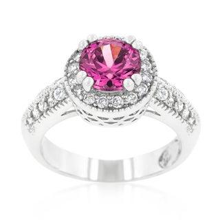 Kate Bissett Fuchsia Halo Engagement Ring