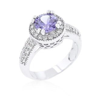 Kate Bissett Lavender Halo Engagement Ring