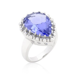 Kate Bissett Solitaire Light Purple Cocktail Ring