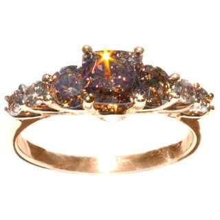 California Girl Jewelry Cognac and Champagne 2.22ct TDW Diamond Ring