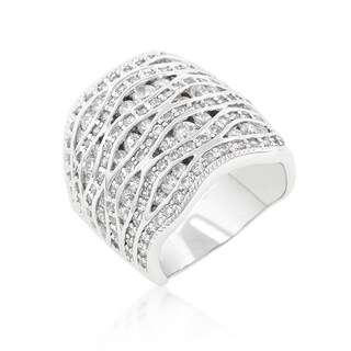 Kate Bissett Cubic Zirconia Pave Abstract Ring