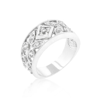 Kate Bissett Spring Floral Brass Cubic Zirconia Band