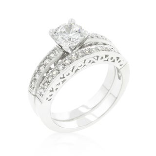 Kate Bissett Filigree Engagement Set White