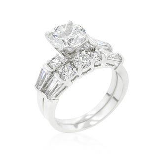 Kate Bissett Engagement Set with Large Center Stone - White (3 options available)