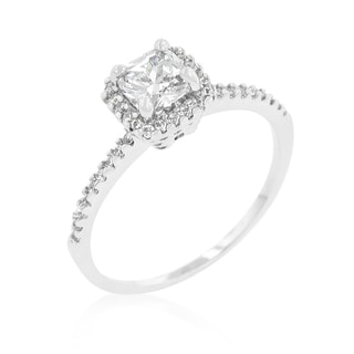 Kate Bissett Princess-cut Halo Engagement Ring