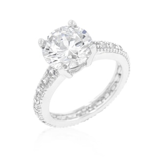Link to Kate Bissett Micropave Cubic Zirconia Engagement Ring Similar Items in Rings