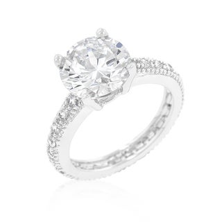 Kate Bissett Micropave Cubic Zirconia Engagement Ring
