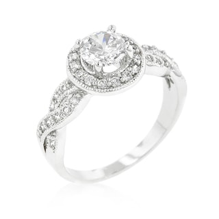 Kate Bissett Round-cut Halo Engagement Ring