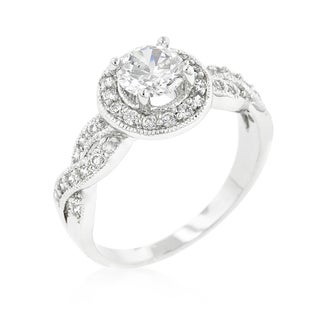 Kate Bissett Round-cut Halo Engagement Ring - White