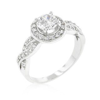 Kate Bissett Round-cut Halo Engagement Ring - White (5 options available)