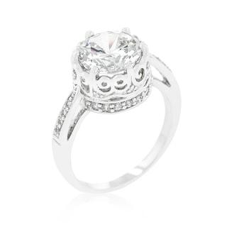 Kate Bissett Royal Crest Filigree Cubic Zirconia Ring