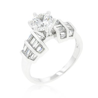Kate Bissett Tapered Baguette Cubic Zirconia Engagement Ring
