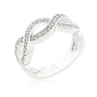 Kate Bissett Cubic Zirconia Infinity Band - White
