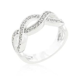 Kate Bissett Cubic Zirconia Infinity Band - White