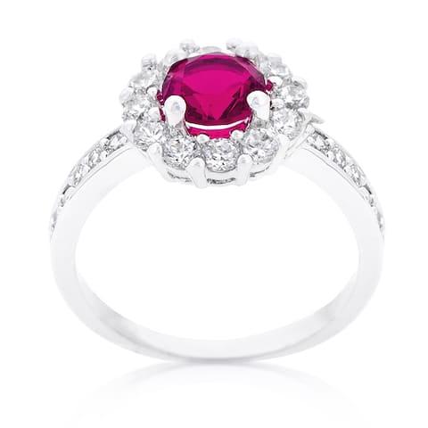 Kate Bissett Bella Pink Birthstone Engagement Ring