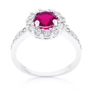 Kate Bissett Bella Pink Birthstone Engagement Ring
