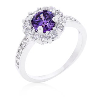 Kate Bissett Purple Halo Engagement Ring