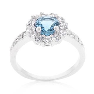 Kate Bissett Bella Birthstone Engagement Ring In Blue