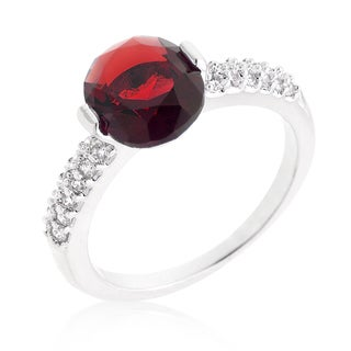 Kate Bissett Brass Red Oval Cubic Zirconia Engagement Ring
