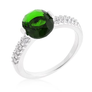Kate Bissett Green Oval Cubic Zirconia Engagement Ring
