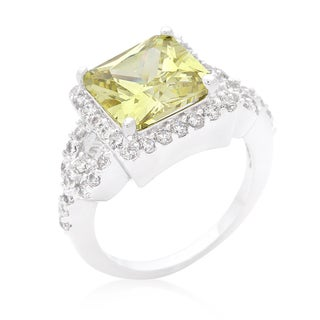 Kate Bissett Halo-style Princess-cut Peridot Cocktail Ring