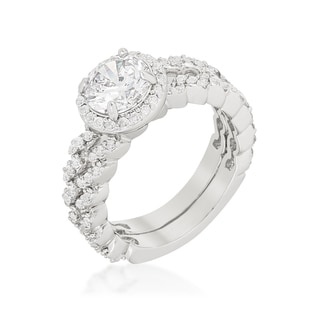 Kate Bissett Zig Zag Wedding Set