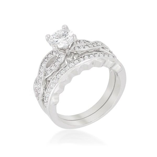 Kate Bissett Infinity Twist Bridal Set - White