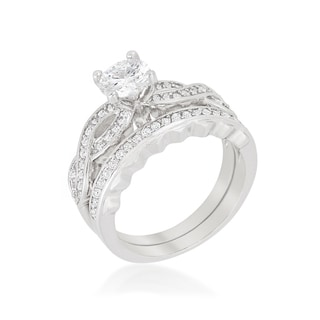 Kate Bissett Infinity Twist Bridal Set - White