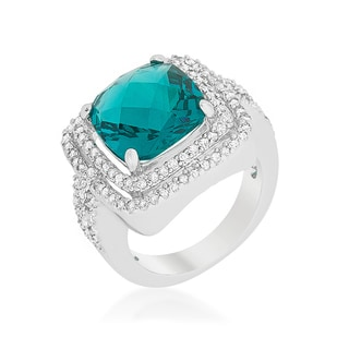 Kate Bissett Candy Aqua Cocktail Ring