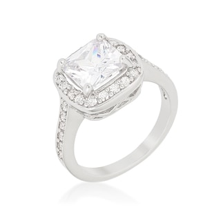 Kate Bissett Halo-style Cushion-cut Engagement Ring