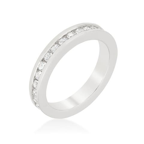 Kate Bissett Channel Set Eternity Band - White