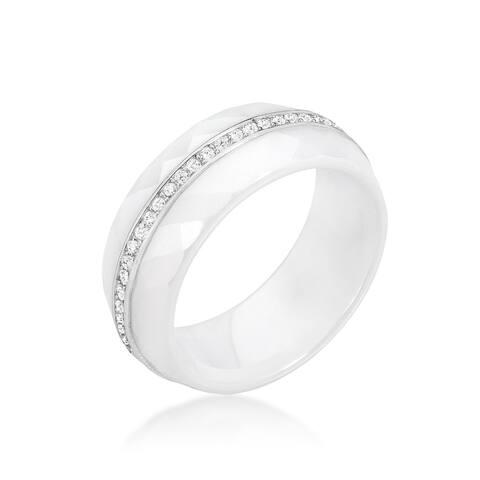 Kate Bissett White Ceramic Band Ring
