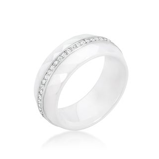 Kate Bissett White Ceramic Band Ring