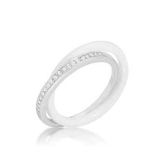 Kate Bissett White Double-band Ceramic Eternity Ring