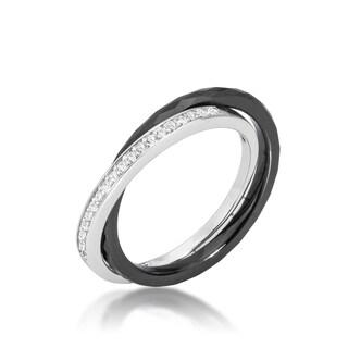 Kate Bissett Black Ceramic Double-band Eternity Ring