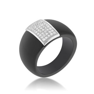 Kate Bissett Black Ceramic Cocktail Ring