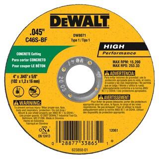"""DeWalt DW8071 4"""" Cutting Wheel"""