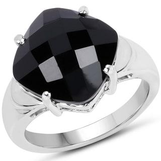 Malaika 0.925 Sterling Silver 6.05 Carat Genuine Onyx Ring