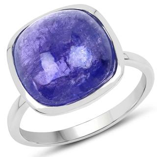 Malaika 0.925 Sterling Silver 9-carat Genuine Tanzanite Ring