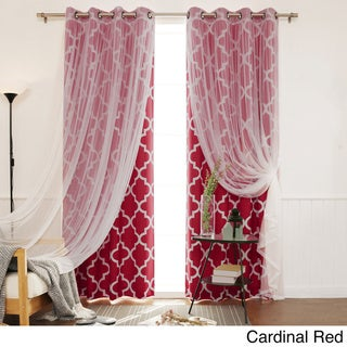 Red 96 Inches Curtains Amp Drapes Shop The Best Deals For