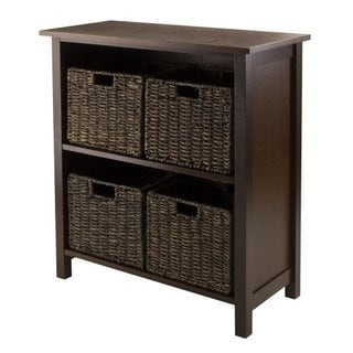 Granville Storage Shelf with Four Foldable Baskets