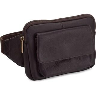 LeDonne Leather Tan/Black/Brown Leather Journey Waist Bag (Option: Cafe)