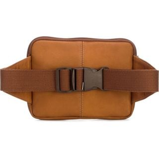 Le Donne Tan/Black/Brown Leather Journey Waist Bag