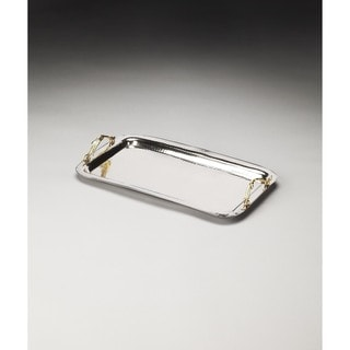 Butler Marten Stainless Steel and Brass Serving Tray