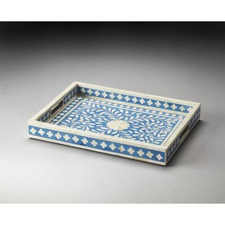 Butler Vivienne Blue Wood Inlay Serving Tray