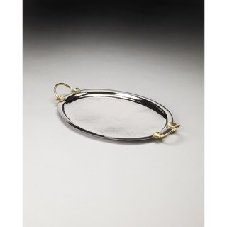 Butler Drake I Stainless Steel and Brass Serving Tray