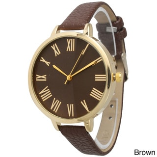 Olivia Pratt Women's Vintage-inspired Petite Leather Band Watch