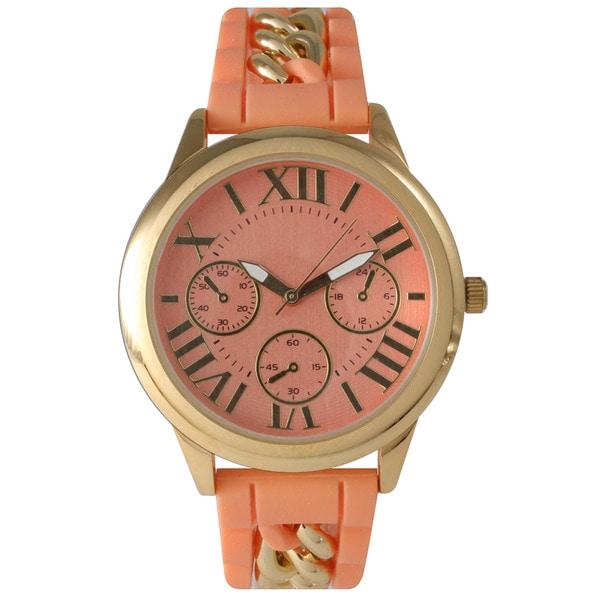 Shop Olivia Pratt Women s Chain Link Silicone Watch - On Sale - Free ... 0fc5fc969d