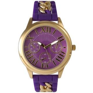 Olivia Pratt Women's Chain Link Silicone Watch
