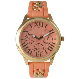 Olivia Pratt Women's Chain Link Silicone Watch